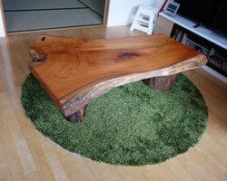 豆ちゃんの止まり木とケヤキのテーブル
