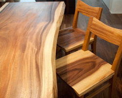 一枚板の家具でコーディネートしてオープンハウス Part1