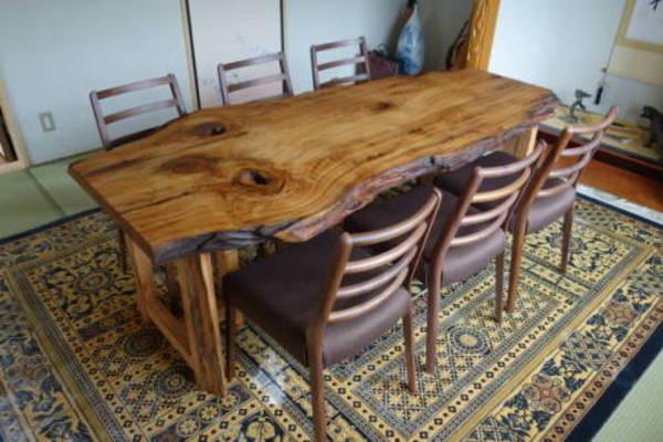 座卓を屋久杉テーブルに