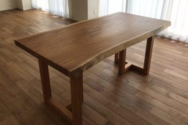 上質ケヤキ一枚板テーブル 大阪府豊中市